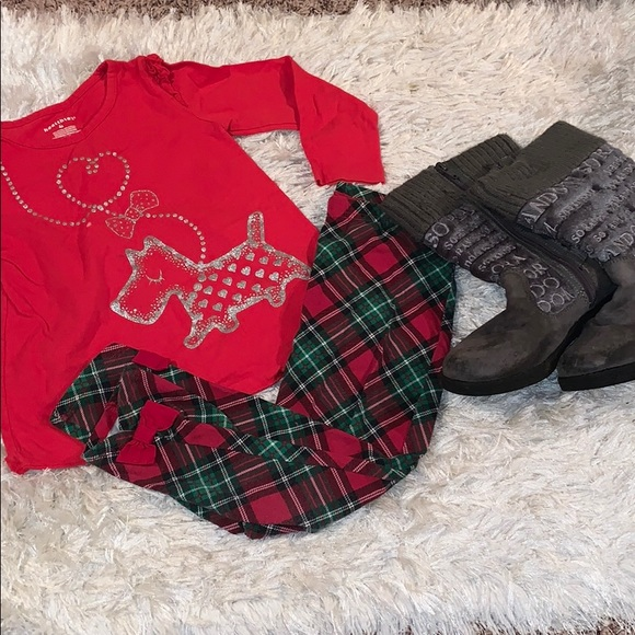 healthtex Other - Christmas leggings & top outfit
